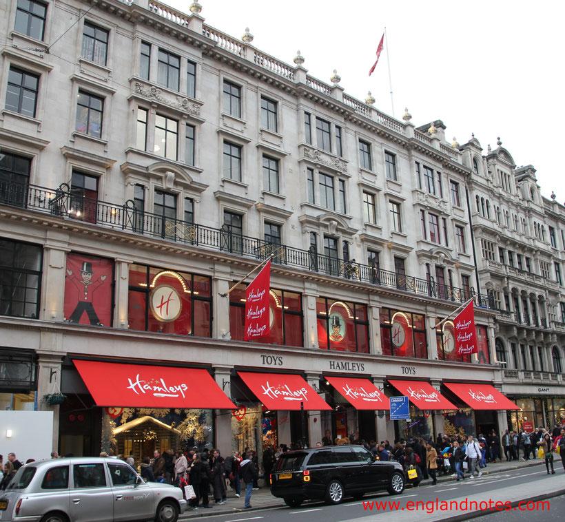London Shopping Tipps: Die besten Kaufhäuser und Einkaufszentren in London - Hamleys