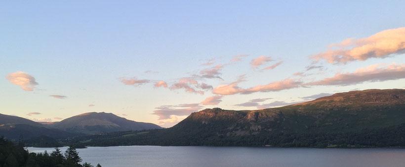 8 traumhafte Reiseziele in Südengland: Blick auf den See Derwentwater im Lake District Nationalpark, England