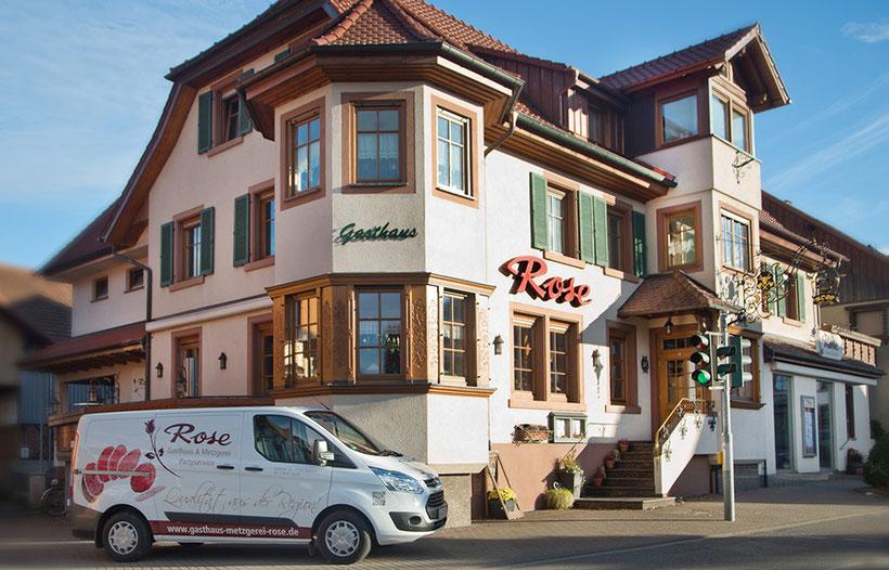 Metzgerei und Gasthaus Rose in Steinach