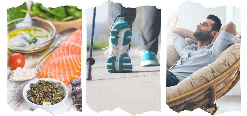 Die 3 Säulen der Prävention: Ernährung, Bewegung, Entspannung
