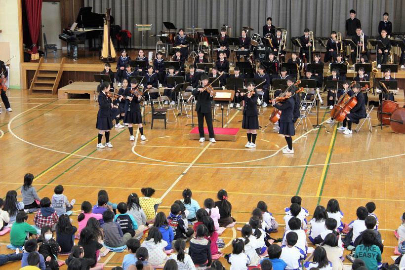 栄町立安食台小学校の芸術鑑賞会にて演奏してきました!