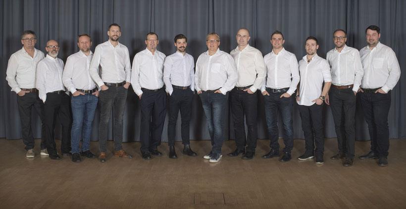 Vorstand Gesamtverein mit Obmännern der Zweigvereine (Januar 2020)