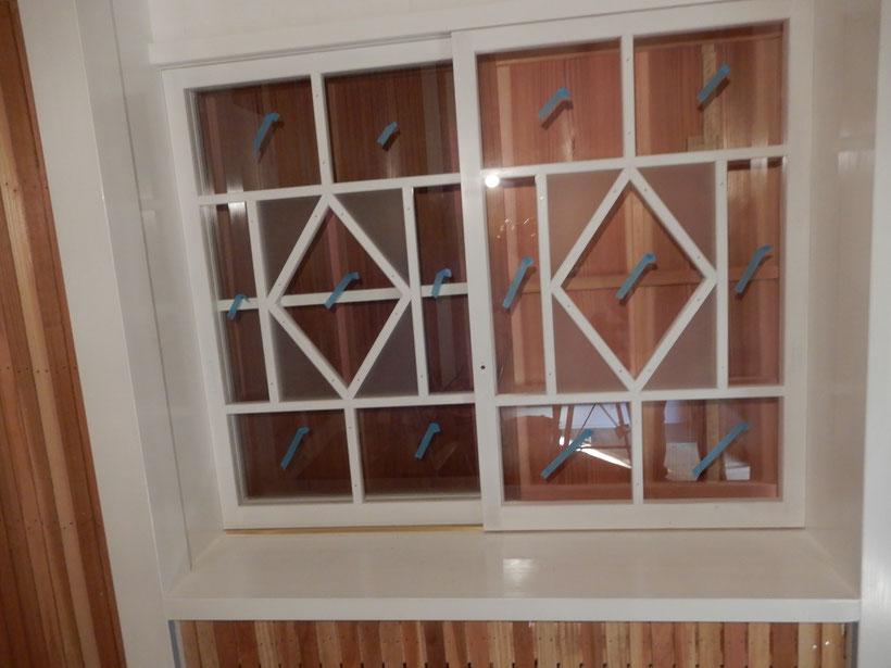 古民家再生 木製建具 洋間の窓