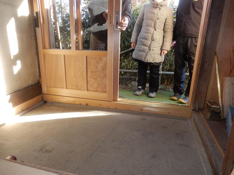 古民家再生 木製建具 玄関
