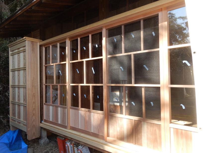 古民家再生 木製建具 縁側
