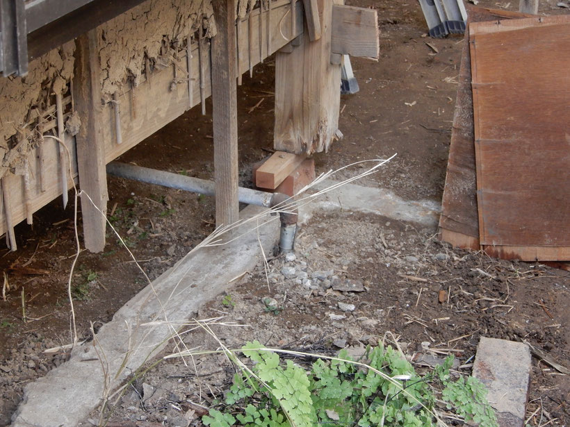 古民家再生工事 傷んだ土台