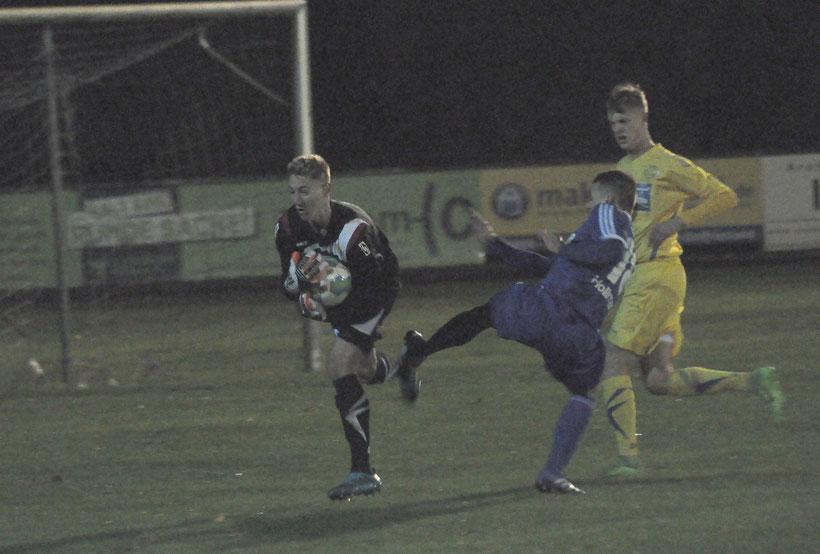 VfL-Torhüter Marcel Bergmann war öfter gefordert, als es das Endergebnis vermuten lässt.