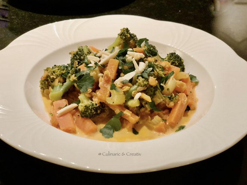 Gemüse-Linsen-Curry