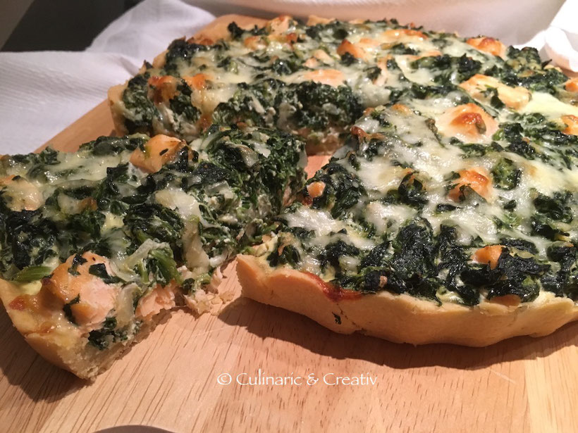 Spinat-Lachs-Quiche 1