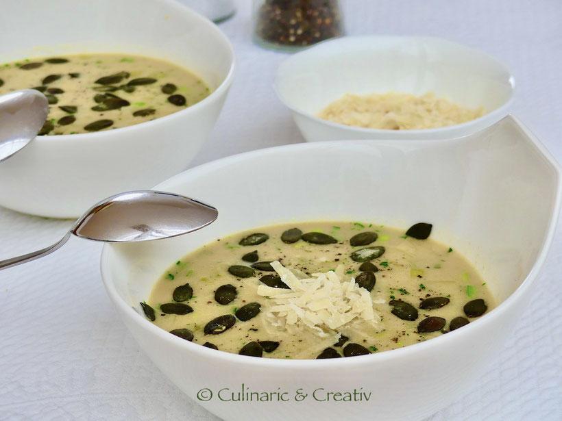 Polenta-Lauch-Suppe