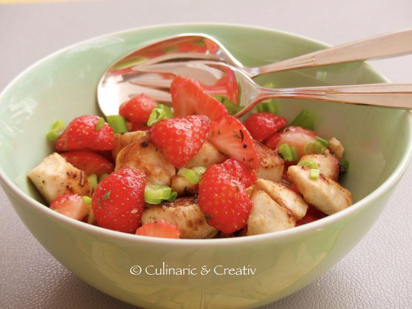 Hähnchenbrust mit Erdbeeren
