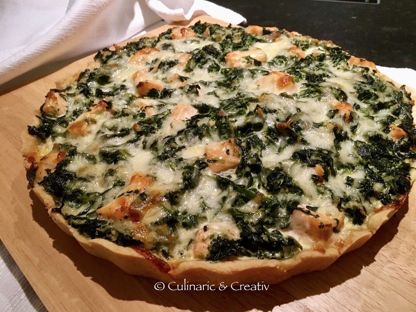 Spinat-Lachs-Quiche
