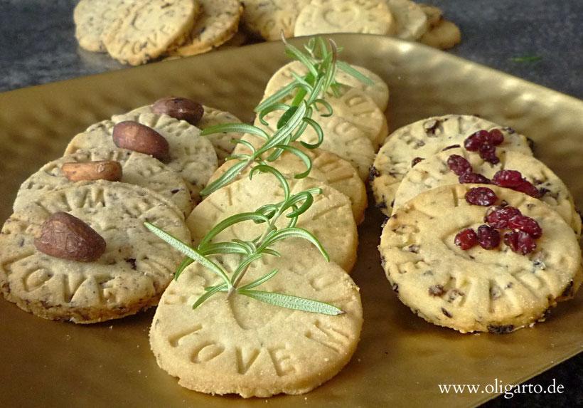 Rezepte für hausgemachte Kekse.