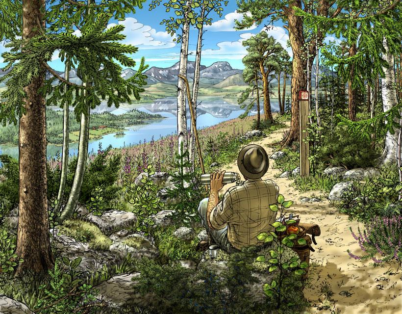 ST:Olavs-leden.  Svart te med smak av skog och mark.  Te-centralen i Östersund.