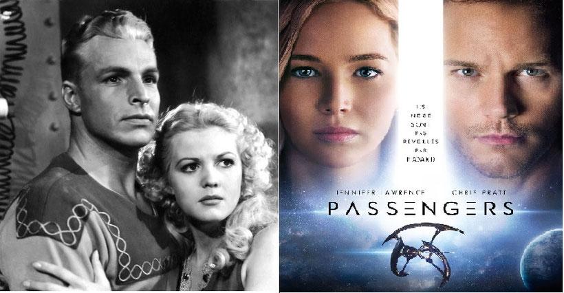 Plus de 80 ans séparent ces deux photos de films de SF, mais le physique des personnages, surtout du personnage féminin n'a pas changé