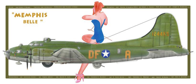 "Boeing B17  ""Memphis Belle""  Flying Fortress"