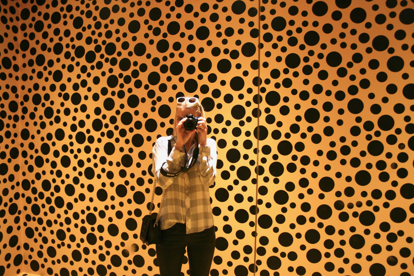 Stockholm Sweden ofpenguinsandelephants Skeppsholmen museum of modern art Yayoi Kusama