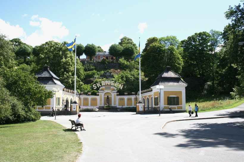 Stockholm Sweden ofpenguinsandelephants Djurgarden Skansen open air museum