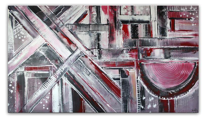 abstrakte malerei grau schwarz rot kaufen gem lde kaufen. Black Bedroom Furniture Sets. Home Design Ideas