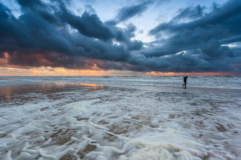 Texel, storm, strand en zee