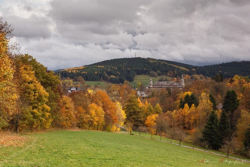 Duitsland, Bad Berleburg, Herfstkleuren