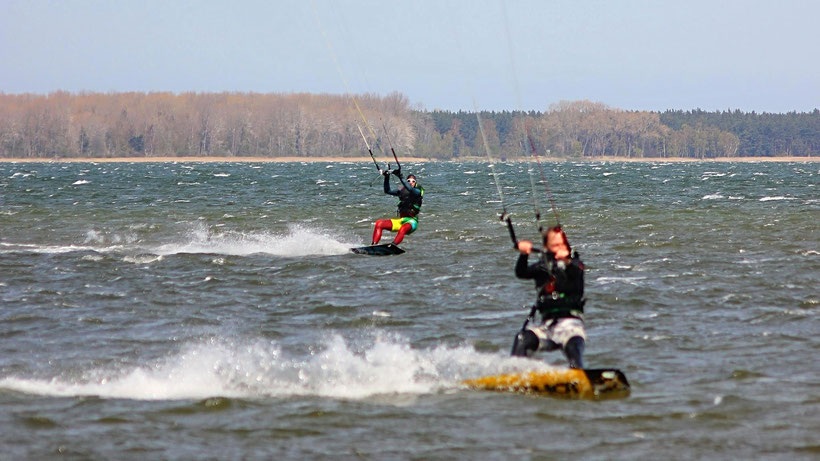 begleitendes Kitesurfen Rügen Ostsee