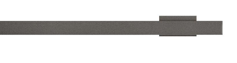 Innenlauf-Gardinenschiene mit flachen Profilen und eleganten Wandträgern in der Farbe anthrazit bei Lamellen Junker in Langenselbold