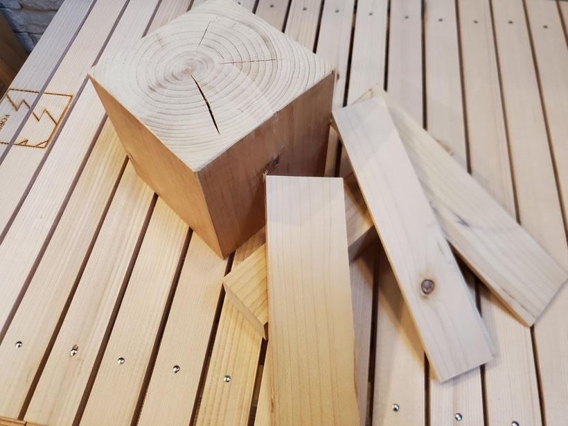 ヒノキの柱 人工乾燥材