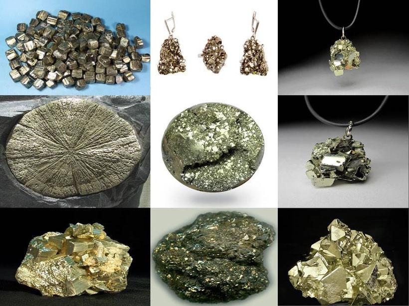 Pyrite - lithothérapie - boutique de minéraux - casa bien-être