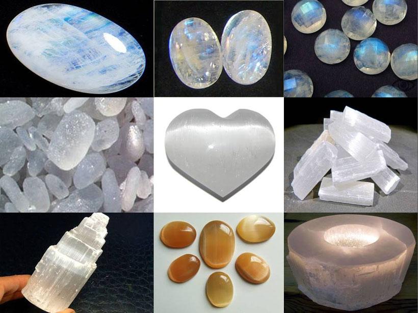 selenite - lithothérapie - boutique de minéraux - casa bien-être