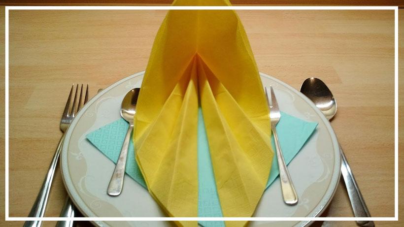 Servietten falten einfaches Blatt