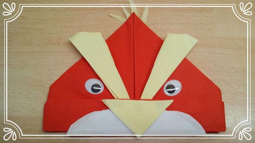 Servietten falten Angry Birds