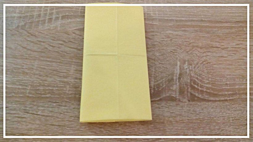 Servietten falten Bestecktasche einfach