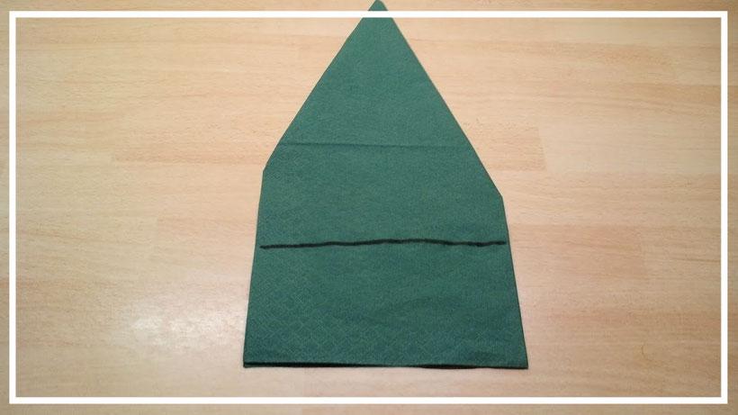 Servietten falten Weihnachtsbaum (Christbaum) zu Weihnachten einfach und leicht