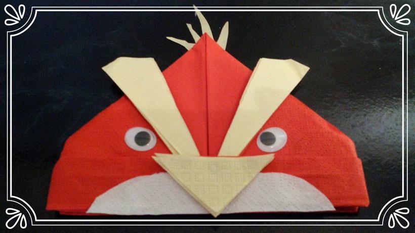 Servietten falten Angry Bird