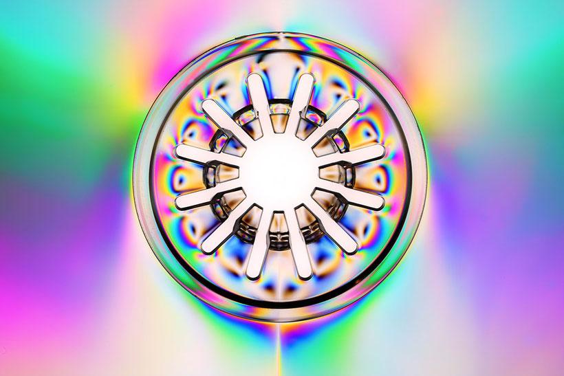 CD Hülle im polarisierten Licht