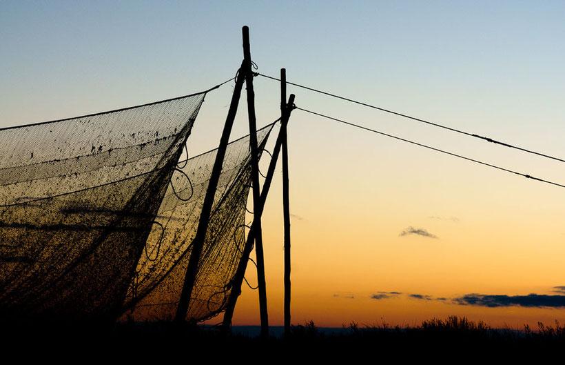 Fischernetze auf Rügen