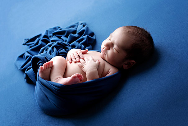 Babyfoto von einem Mongolischen Kind