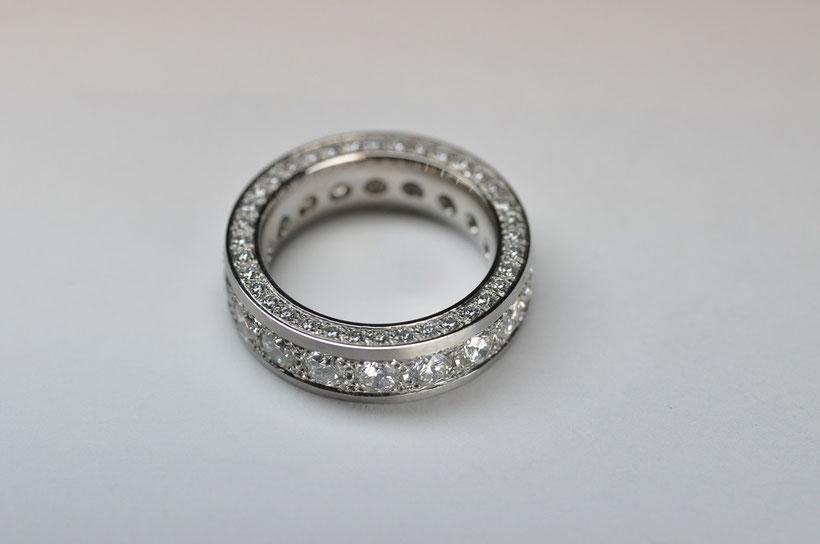 Ring Platin, Brillanten 3.37ct