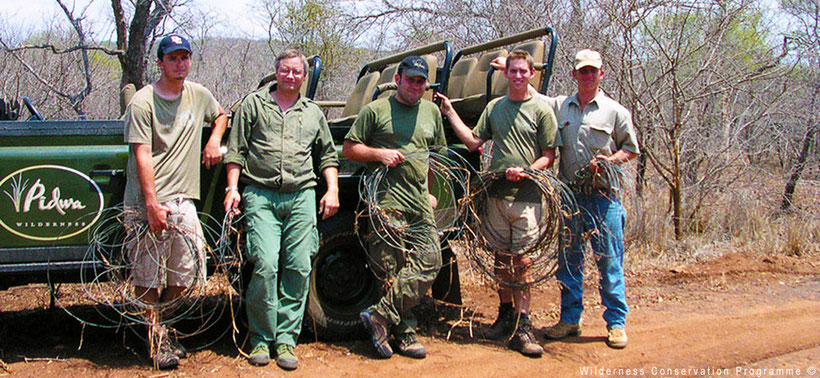 Volunteers in South Africa in the bush