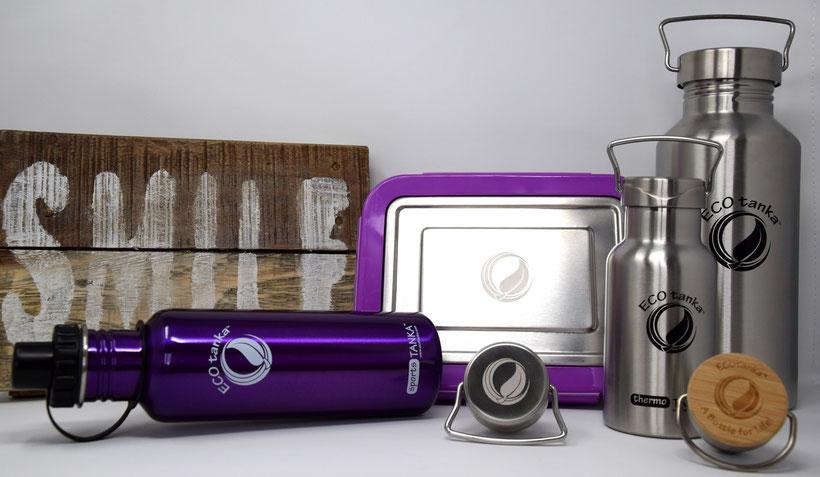 ECOtanka Trinkflaschen und lunchBOX aus Edelstahl