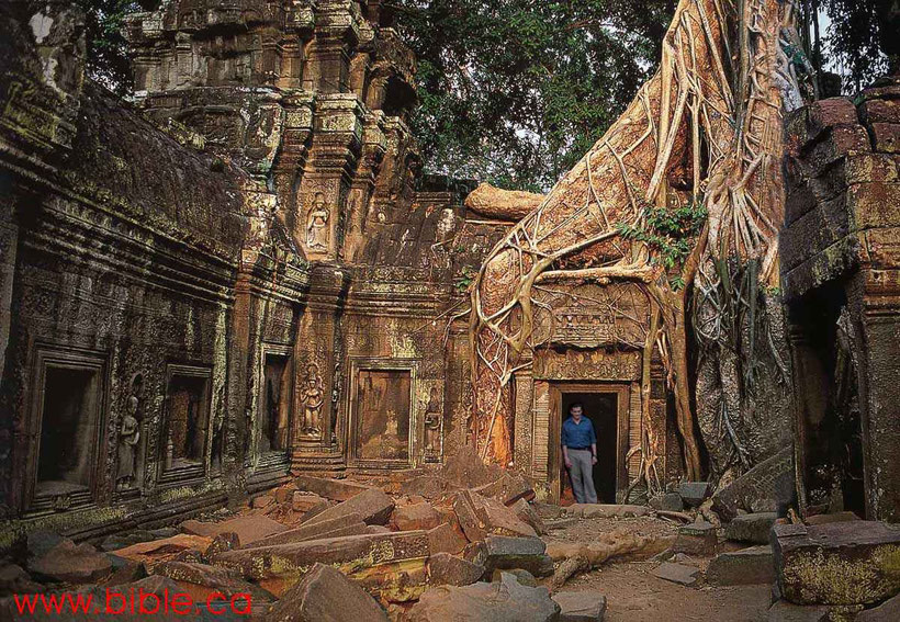 Ta Prohm Tempel in Kambodscha 1200 v. Chr.