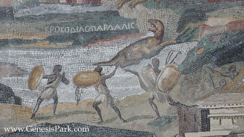 Nile Mosaic von Palestrina von Demetrius der Topograph in Alexandria, Ägypten