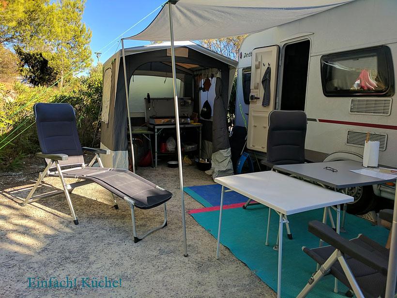 "unser Caravan auf dem Campingplatz ""la grange neuve"""