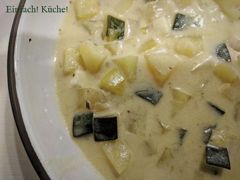 Einfach! Küche! lecker Essen - lecker Campingküche - Kartoffel Zucchini Suppe