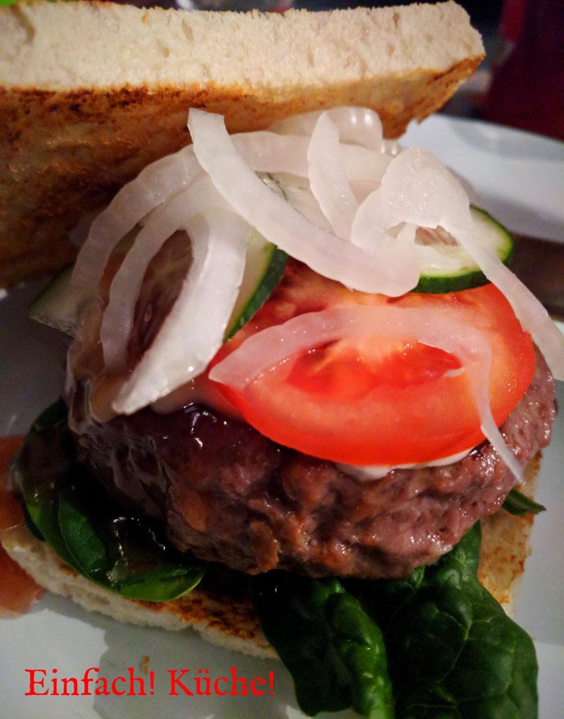 Einfach! Küche! lecker Essen - lecker Campingküche - Burger