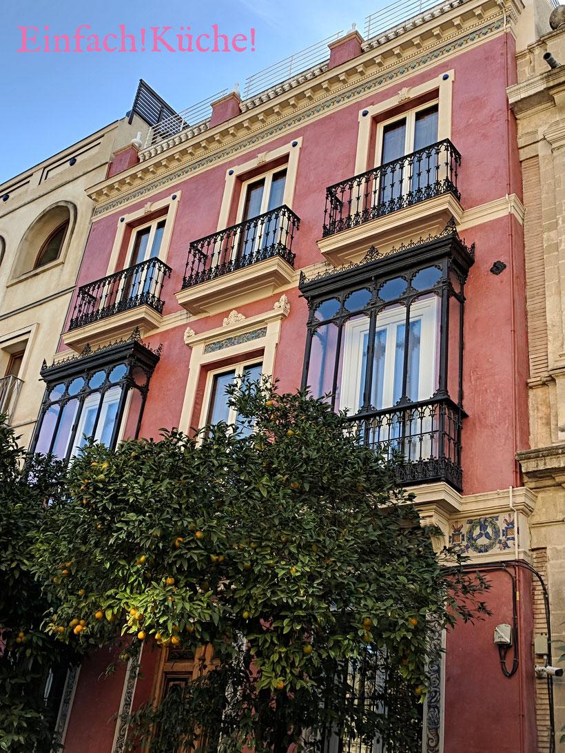Ein Stadthaus in Sevilla, Andalusien, Spanien