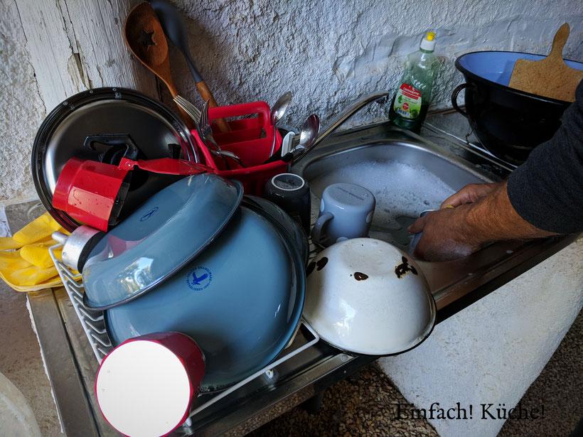 Einfach! Küche! lecker >Essen - lecker Campingküche - Abwasch