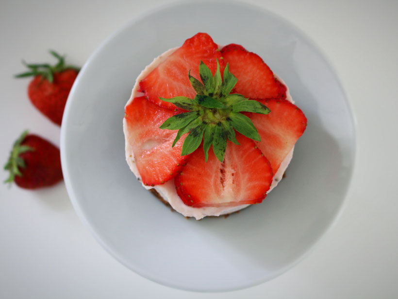 Einfach! Küche! Erdbeertörtchen mit Frischkäse