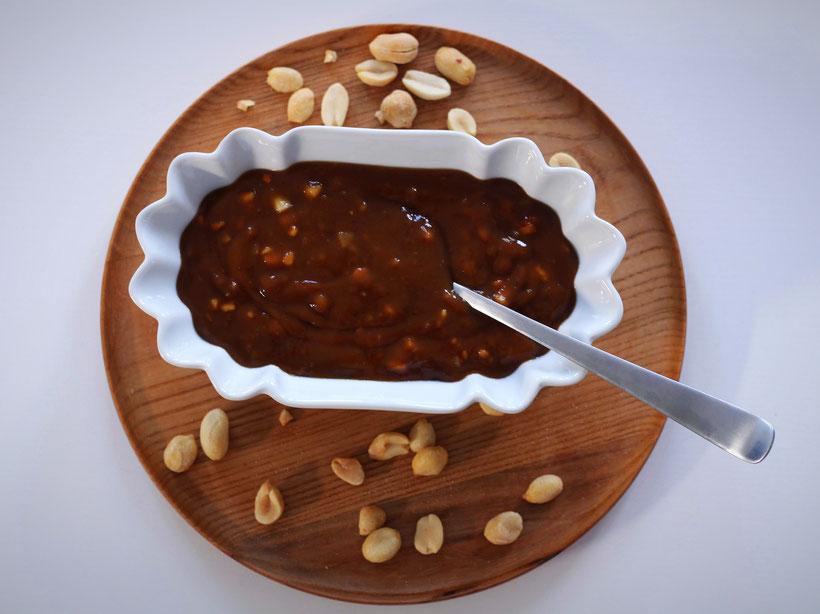 Einfach! Küche! Erdnuss Sauce in der Schale